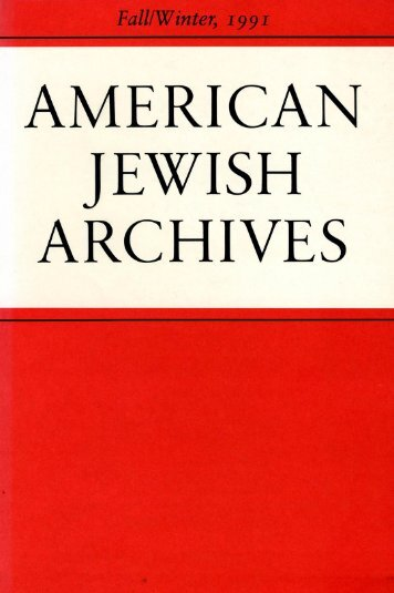Brief Notices - American Jewish Archives