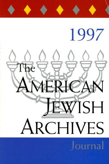 Academic Advisory - American Jewish Archives