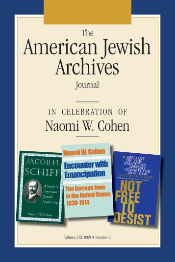 American Jewish Archives Journal