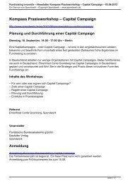 Planung und Durchführung einer Capital Campaign - Spendwerk