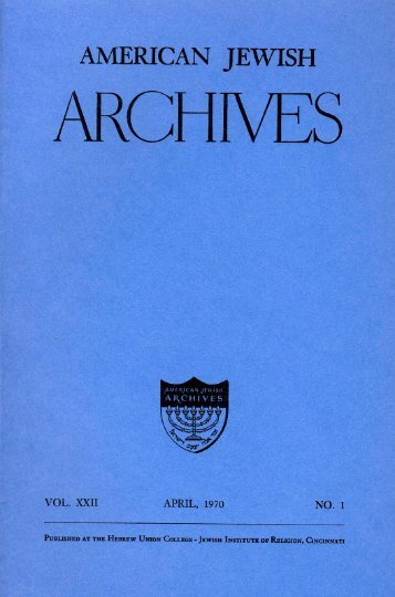 The American Jewish Archives