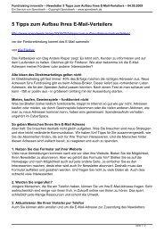 Newsletter 5 Tipps zum Aufbau Ihres E-Mail-Verteilers - Spendwerk