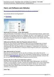 Fundraising innovativ – Newsletter Hard- und Software ... - Spendwerk