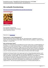Fundraising innovativ – Newsletter Die verkaufte ... - Spendwerk