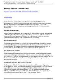 Fundraising innovativ – Newsletter Wissen Spender ... - Spendwerk