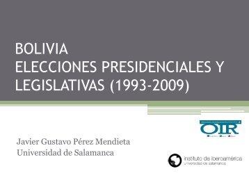 Elecciones presidenciales y legislativas - Universidad de Salamanca