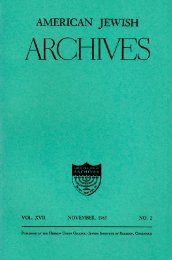 American Tewish Archives - American Jewish Archives