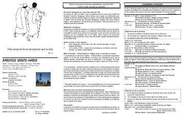 Bulletin du 12 au 26 juillet 2009 - Paroisse Sainte-Marie d'Orléans