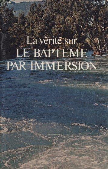 Verite sur le bapteme par immersion (Prelim 1973).pdf - Herbert W ...