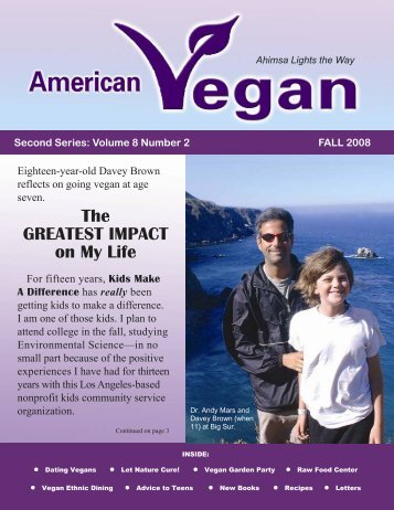 Volume 8 Number 2 FALL 2008 - American Vegan Society