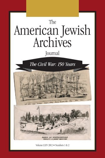 American Jewish Archives Journal, Volume 64, Numbers 1 & 2