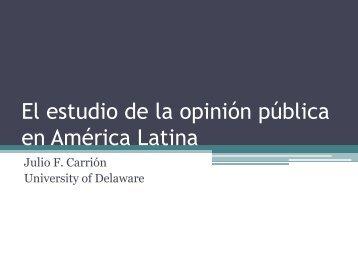 El estudio de la opinión pública en América Latina