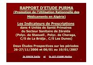 LES INDICATEURS DE PRESCRIPTIONS