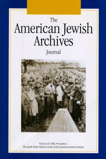 The American Jewish Archives Journal