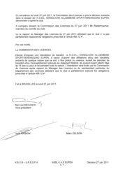 En sa séance du lundi 27 juin 2011, la Commission ... - E-kickoff.com