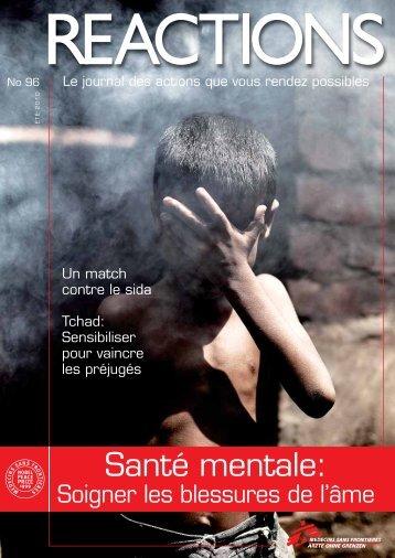 Santé mentale: - Médecins Sans Frontières Suisse