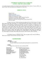assemblée générale du 25 mars 2010 nantes - SCSHO La Societe ...