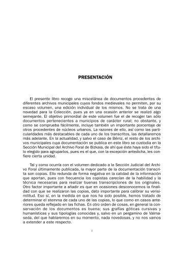 Archivo Foral de Bizkaia. Sección Municipal. Documentación ...