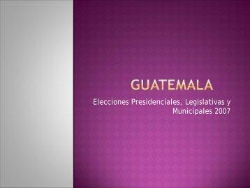 Elecciones presidenciales y legislativas. Primera vuelta y Legislativas