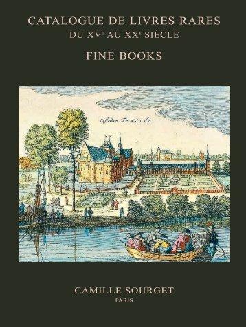 CATALOGUE DE LIVRES RARES FINE BOOKS - Camille Sourget