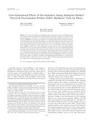 Cross-Generational Effects of Discrimination Among Immigrant ...