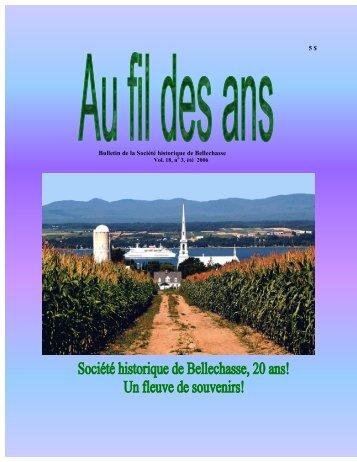 No. 3 Été - Société historique de Bellechasse