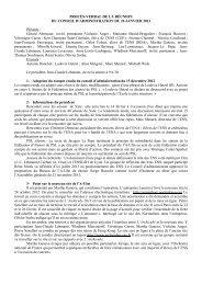 Compte rendu du dernier Conseil d'administration - site Internet de l ...