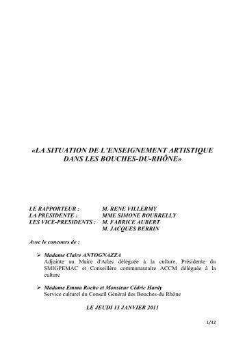 Rapport CDC Villermy - Conseil général des Bouches-du-Rhône