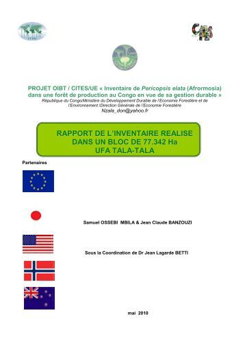 Rapport du Congo-Projet Afro. Inventaire - ITTO