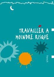 TRAVAILLER A MOINDRE RISQUE - APDES