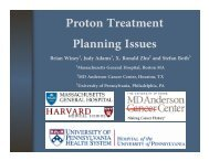 Proton Treatment Planning Issues