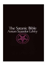 le livre de satan - Satanism: Exposing the Truth
