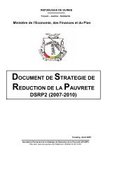 document de strategie de reduction de la pauvrete ... - CDA - OMVS
