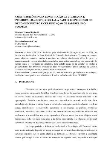 Rossane Vinhas Bigliardi; Ricardo Gauterio Cruz ... - Anpae
