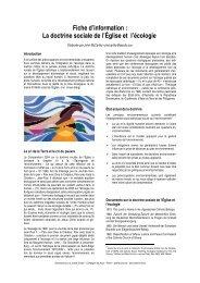 La doctrine sociale de l'Église et l'écologie - Ecology and Jesuits in ...