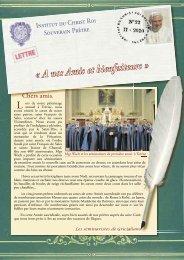 22 - Institut du Christ Roi Souverain Prêtre