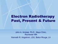 Electron Radiotherapy Past, Present & Future