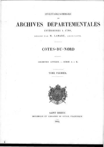 télécharger le pdf - Archives départementales des Côtes d'Armor