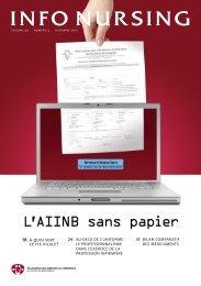 L'AIINB sans papier - The Nurses Association of New Brunswick