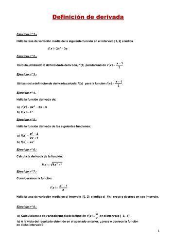 Definición de derivada - Amolasmates