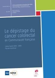 Le dépistage du cancer colorectal en Communauté française ...
