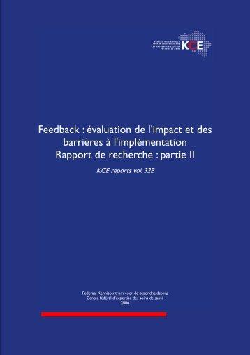 Télécharger le rapport (256 p.) - KCE