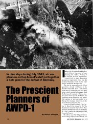 The Prescient Planners of AWPD-1 I - Air Force