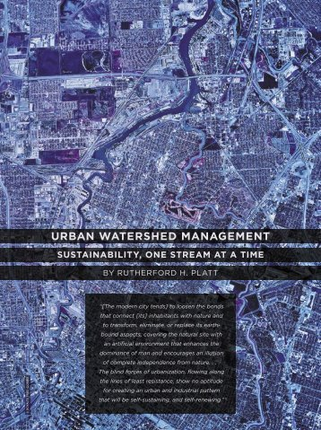 urban watershed management - University of Massachusetts Amherst