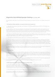 AGB Hosting - Sektor Werbung