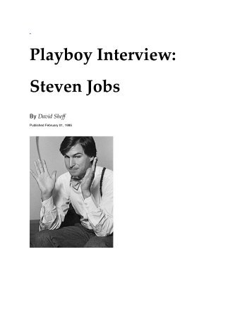 Playboy Interview with Steve Jobs - Evernote