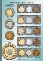 Medaillen für 50 mm-Embleme - Vereinsbedarf Jansen