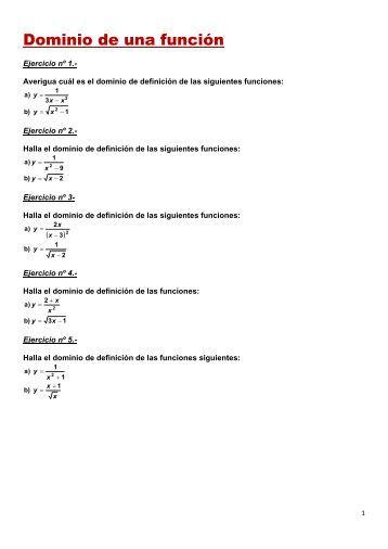 Ejercicios de funciones elementales.pdf - Amolasmates