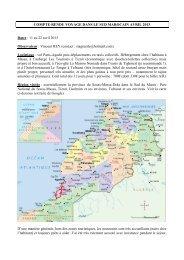 14 pages. Sud Maroc - LPO