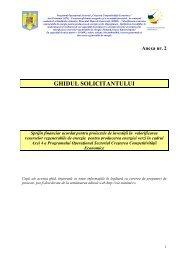 Ghidul Solicitantului (include anexele) - Prefectura Jude?ului Vaslui